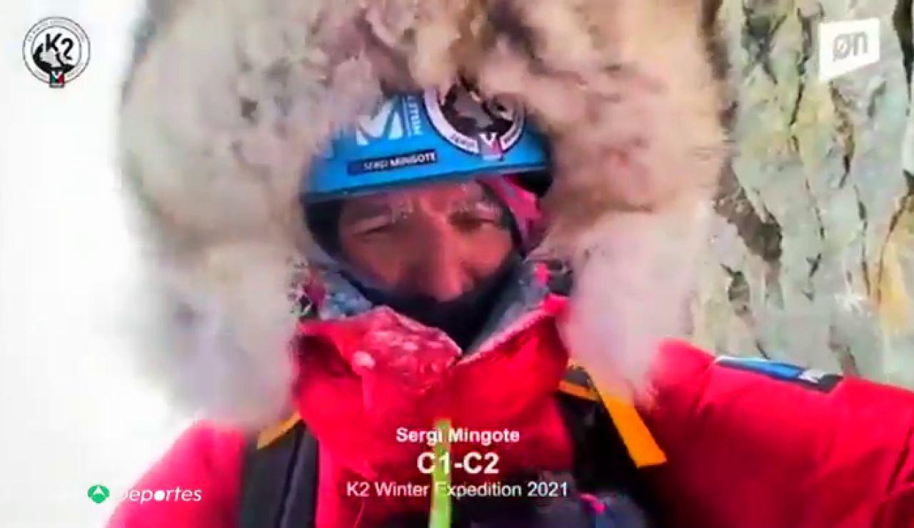 Sergi Mingote, el único español en el grupo de alpinistas que buscan la hazaña de subir el K2 en invierno