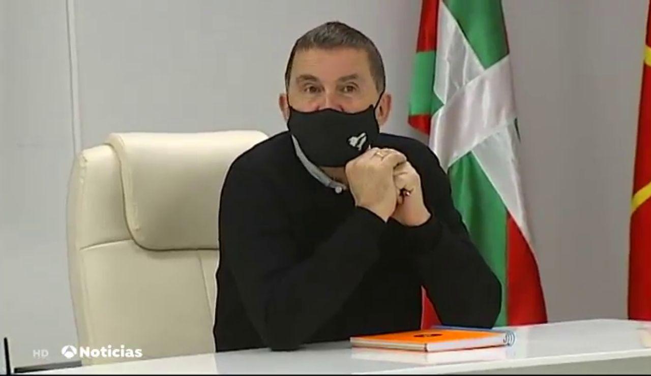 Arnaldo Otegi envía cartas a los presos de ETA para que se afilien a Bildu