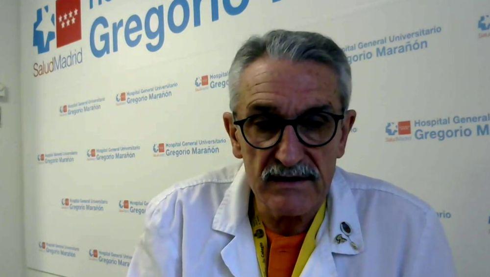 José Eugenio Guerrero, médico en el hospital Gregorio Marañón habla en Antena 3 Noticias sobre el coronavirus