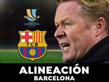 Alineación del Barcelona para el partido de hoy de Supercopa de España