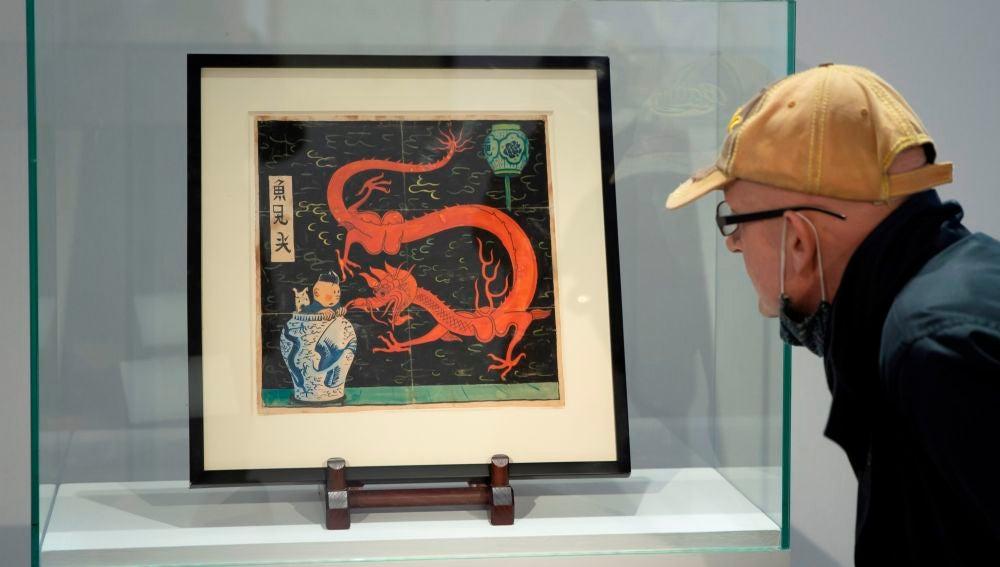 La acuarela de Tintín de 1936 vendida por 3,1 millones de euros, un nuevo récord