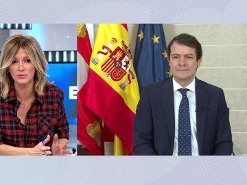 Alfonso Fernández Mañueco habla sobre la situación de Castilla y León con el coronavirus