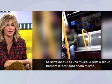 """La reacción de Susanna Griso al ver la agresión racista en el metro: """"Quitádmelas, no soporto verlo"""""""