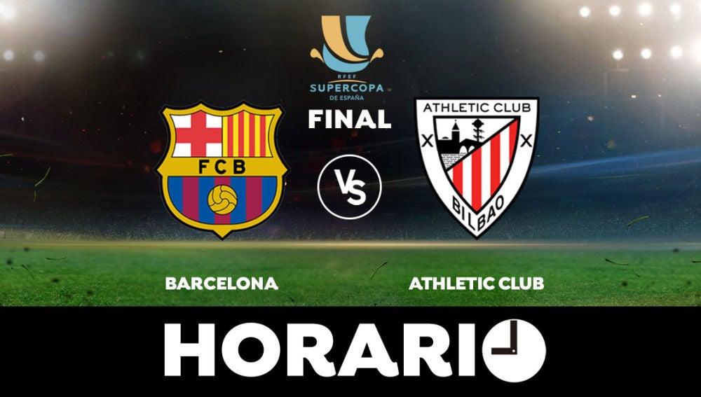 Barcelona - Athletic Club: Horario, alineaciones y dónde ver el partido en directo | Supercopa de España
