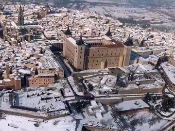Toledo desde el aire una semana después de Filomena
