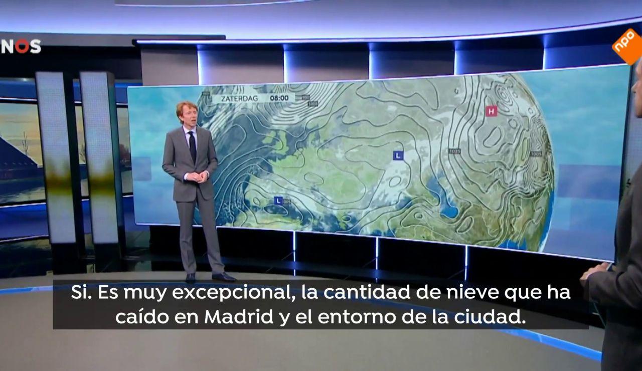 Cómo se contó la intensa nevada de España en otras cadenas interenacionales