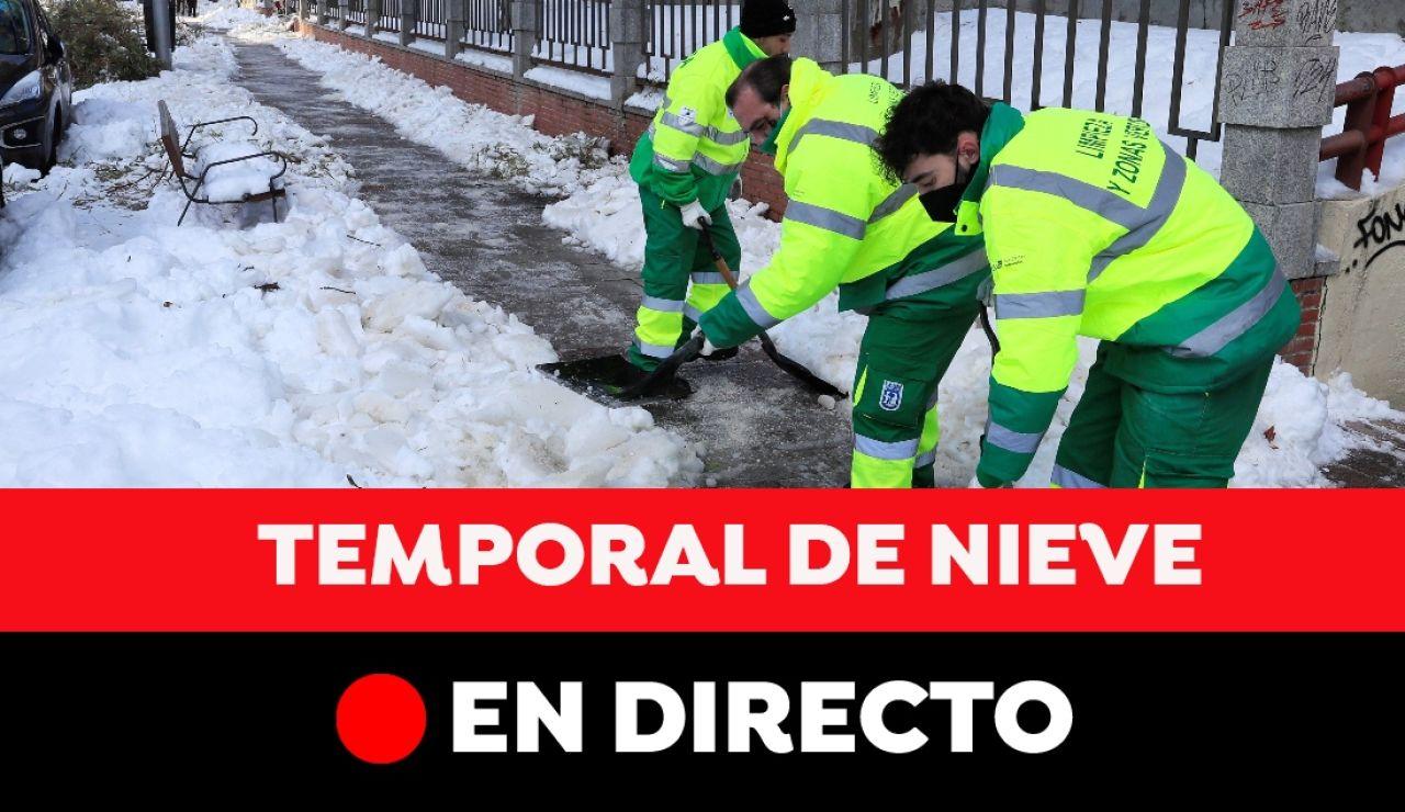 Temporal Filomena en España: última hora de las incidencias por la ola de frío, en directo