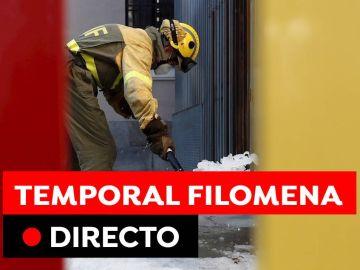 Temporal Filomena hoy: Carreteras cortadas, destrozos y temperaturas, en directo