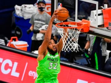 Karl-Anthony Towns, en un partido con Minnesota