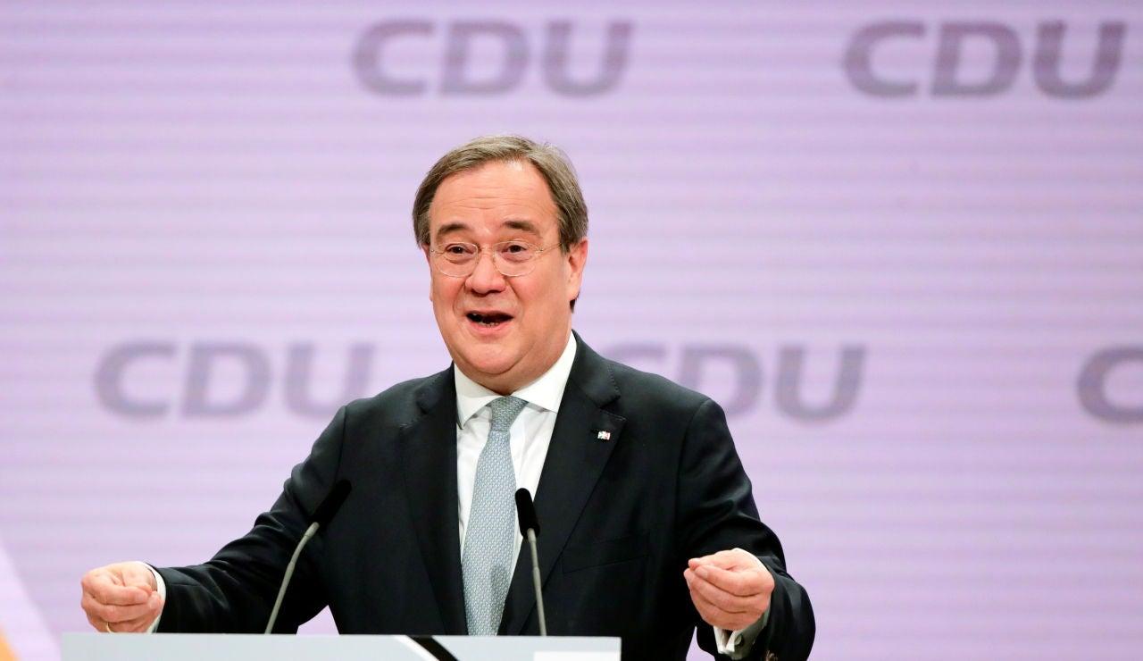 Armin Laschet, durante un acto de la CDU