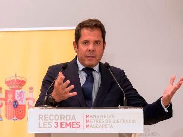El presidente de CEPYME, Gerardo Cuerva, hablando sobre los ERTE