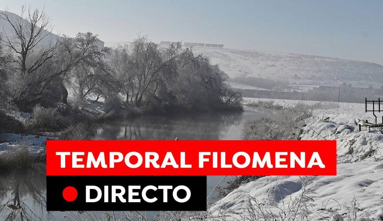 Temporal Filomena en España hoy: alerta por frío, viento y fenómenos costeros, en directo