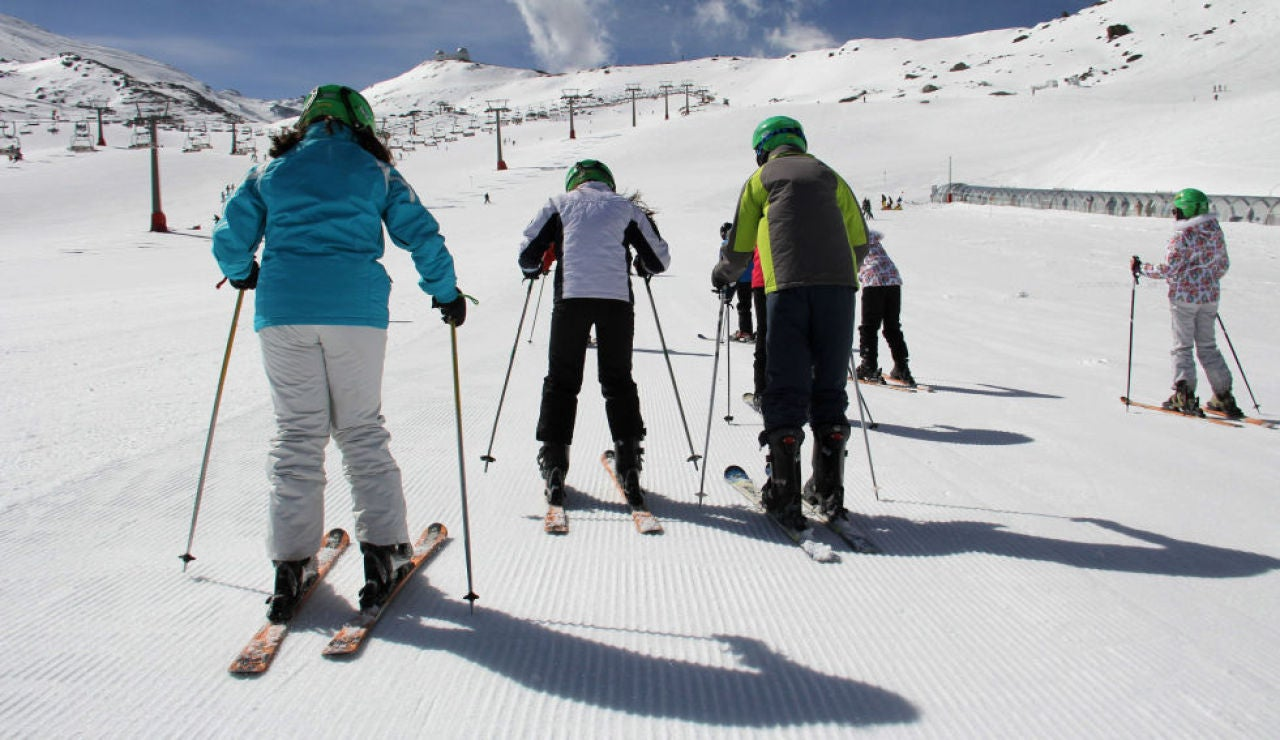 Imagen de archivo de una pista de esquí.