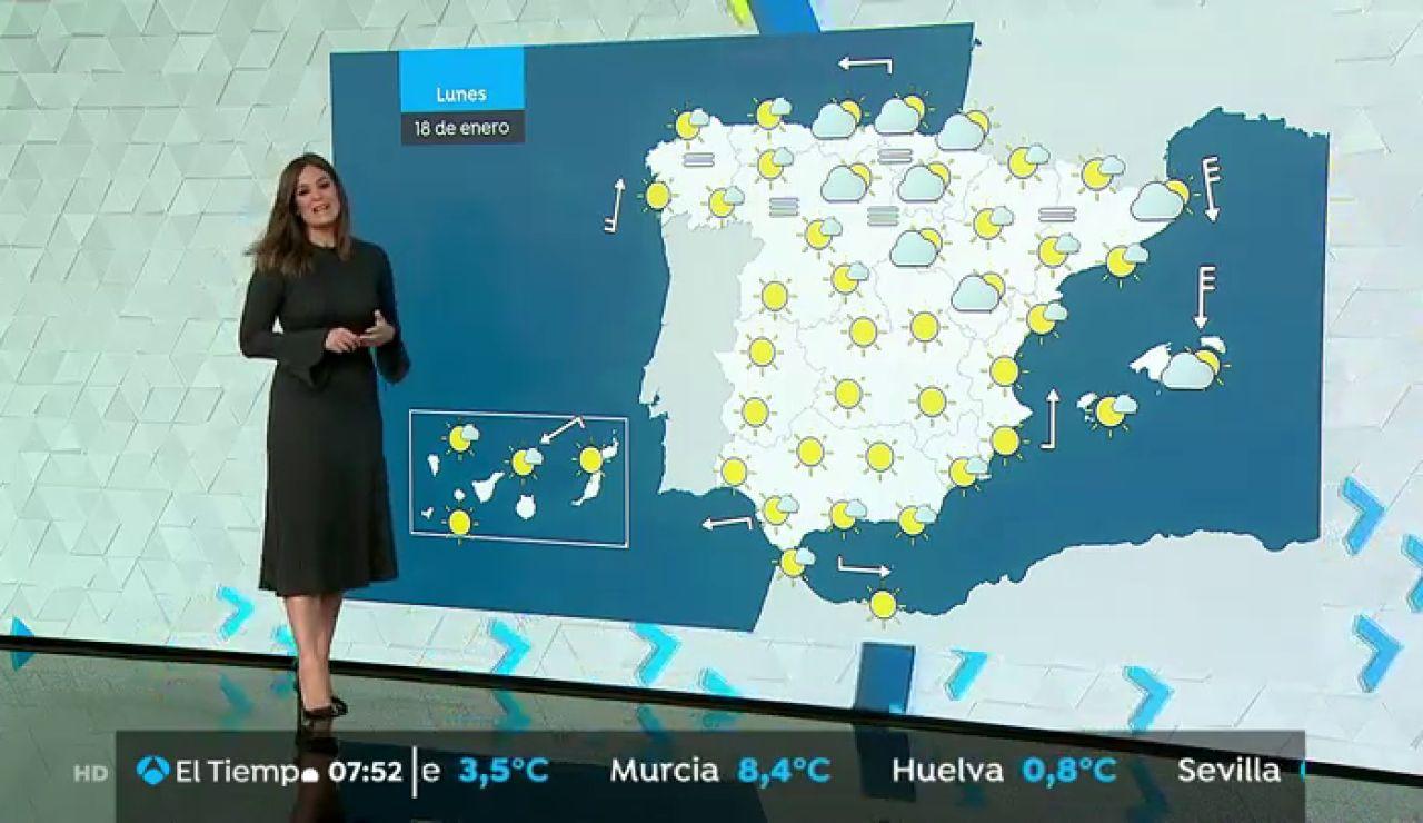 La previsión del tiempo hoy: Este lunes se esperan lluvias en el Cantábrico y litoral catalán con ascenso de temperaturas