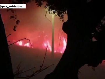 Arde Portugal tras desatarse un incendio en la ciudad de Valença