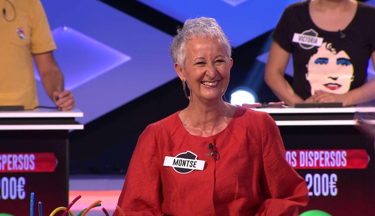 La suerte sonríe a Montse, de 'Los caligaris': su trabajo le otorga la respuesta correcta a una difícil pregunta de '¡Boom!'