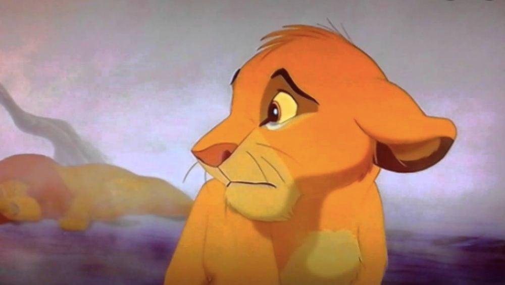 Simba y Mufasa en 'El Rey León'
