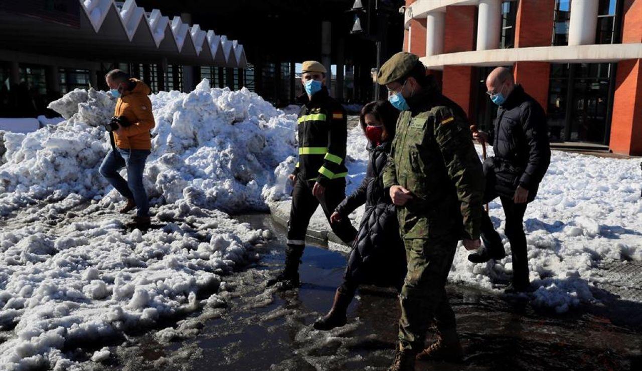 Polémica por la retirada de la UME en Madrid tras los daños del temporal Filomena