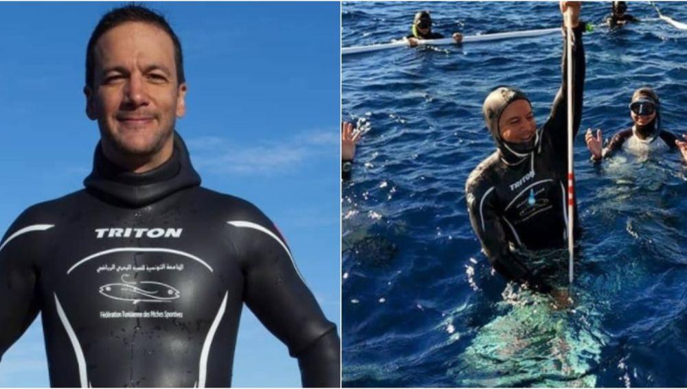 Walid Boudhiaf y su nuevo récord del mundo de apnea
