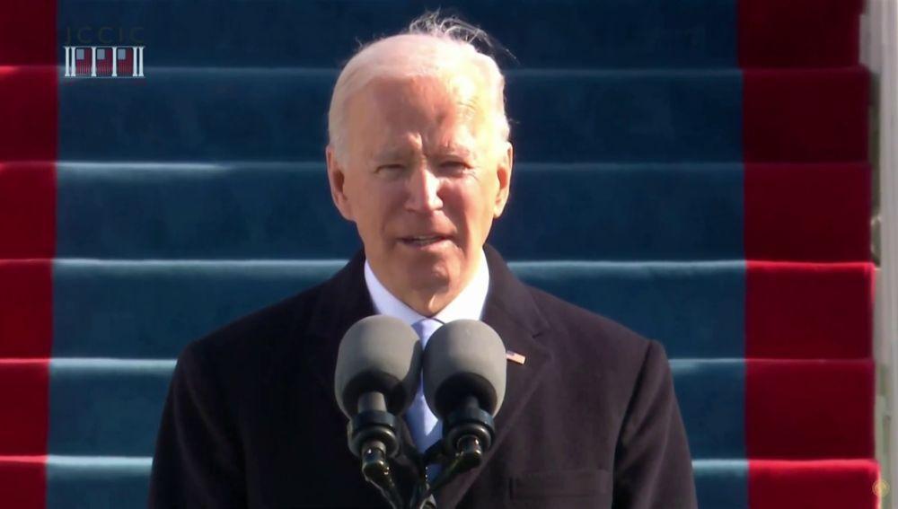 """Joe Biden, nuevo presidente de Estados Unidos, pide unidad a la nación porque """"es el camino hacia delante"""""""