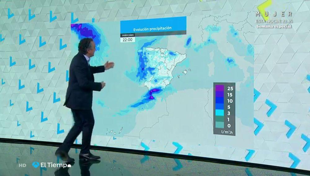 La previsión del tiempo hoy: alerta en 11 comunidades por lluvias, viento y deshielo