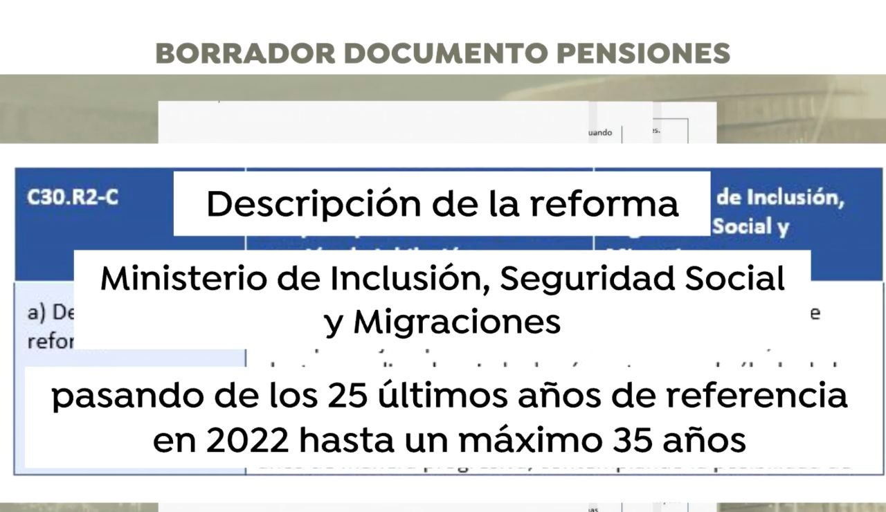 Exclusiva documento de pensiones por Antena 3 Noticias
