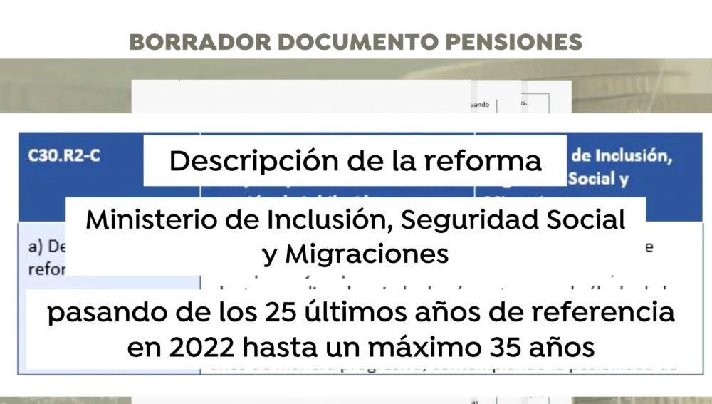 Exclusiva documento de pensiones por Antena 3 Noticias