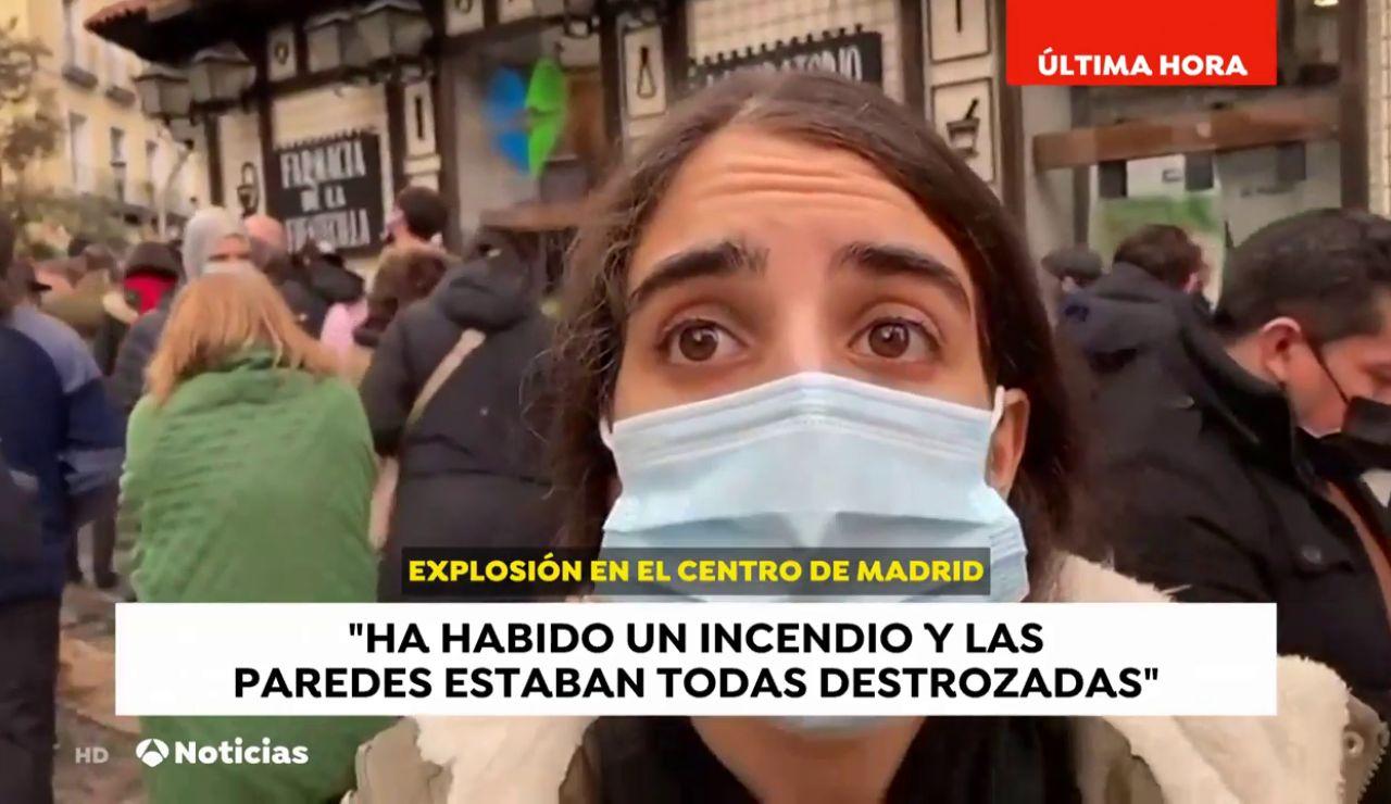 Primeras reacciones de los vecinos que han sido testigos de la fuerte explosión que ha sacudido el centro de Madrid