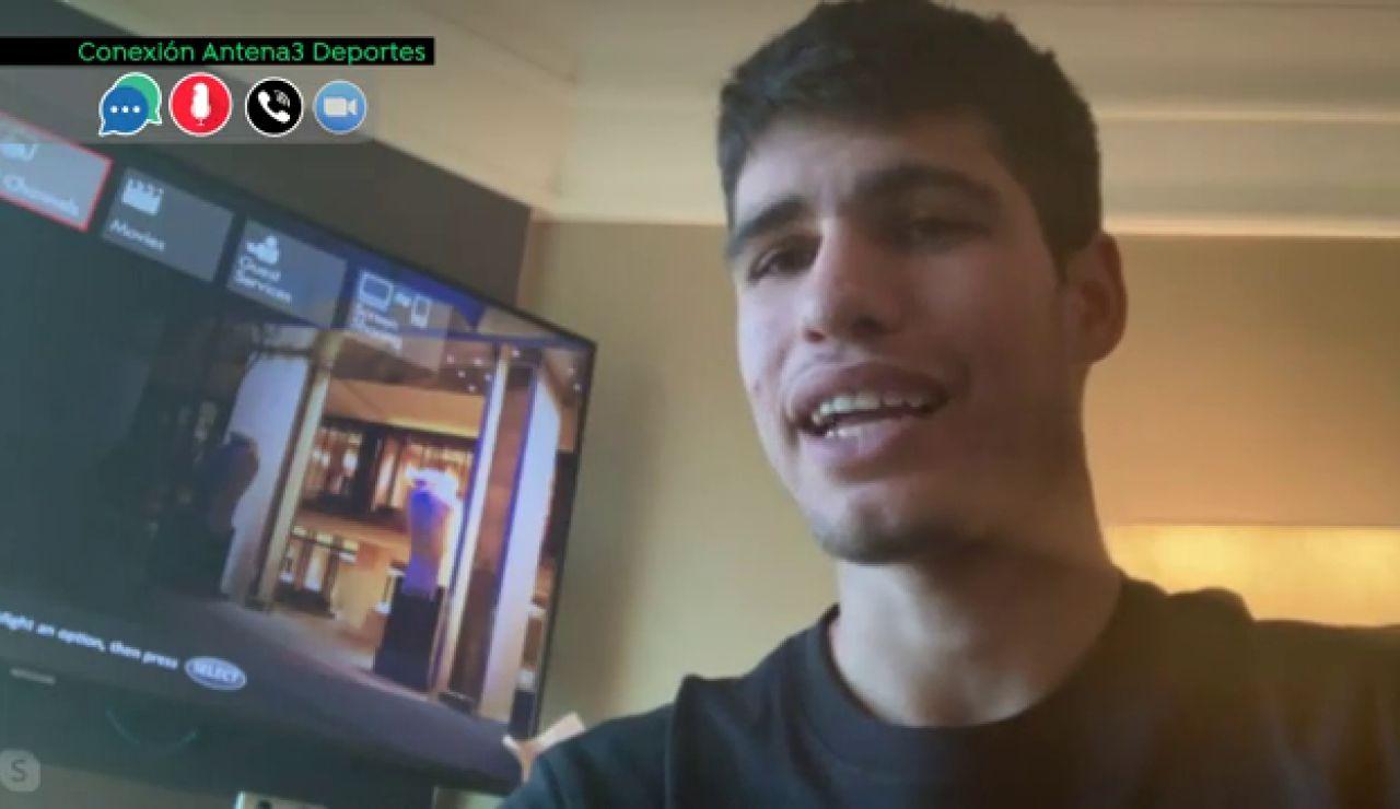 """Carlos Alcaraz, confinado en un hotel en Australia: """"Sabíamos que podía pasar y hay que llevarlo de la mejor forma posible"""""""