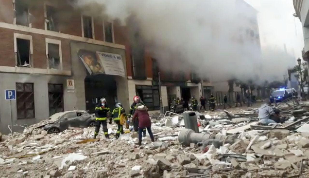 Explosión en la madrileña calle Toledo