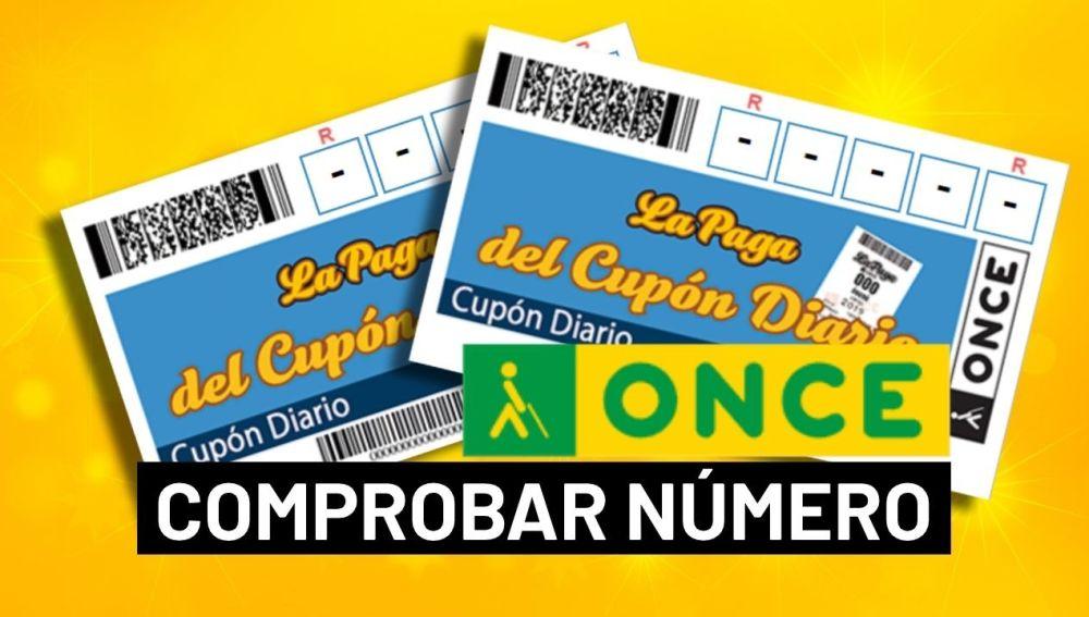 ONCE: Comprobar número del sorteo del Cupón Diario hoy en directo
