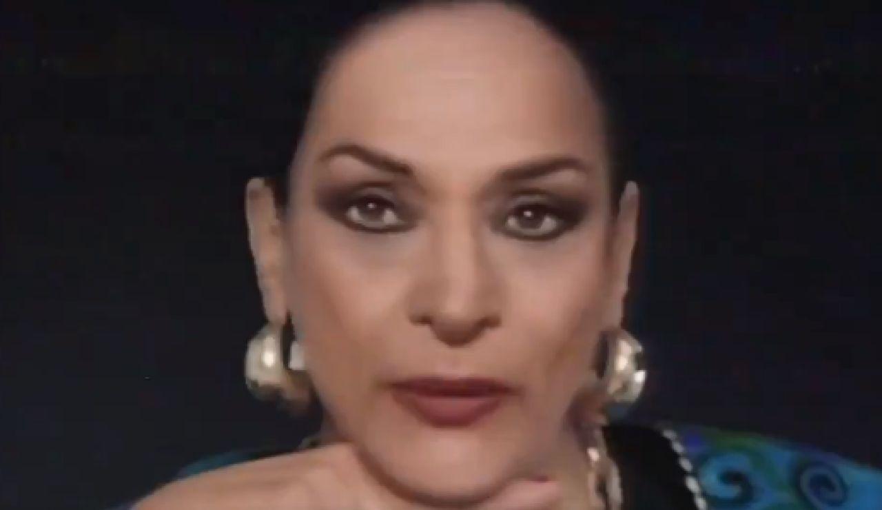 Recreación de Lola Flores en el anuncio de 'Cruzcampo'