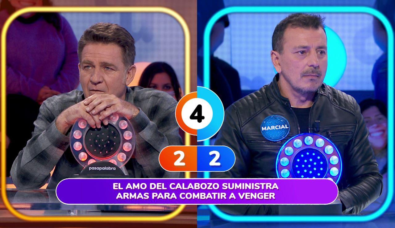 Juanjo Artero y Marcial Álvarez, enfrentados por una serie de televisión en 'Pasapalabra'