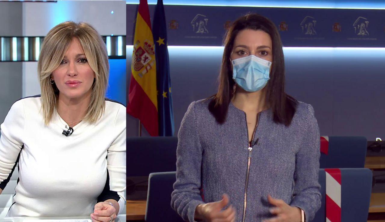 Entrevista a Inés Arrimadas sobre la polémica del consejero de Murcia vacunado