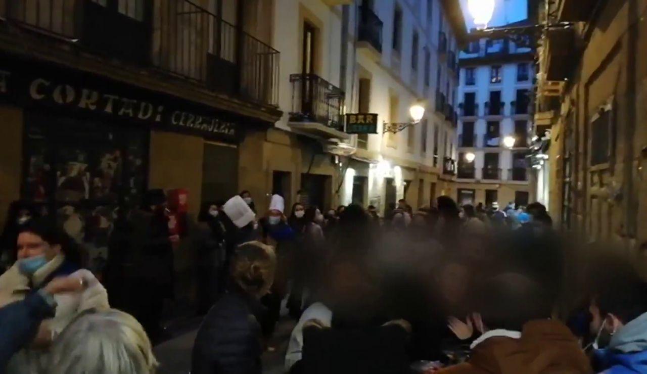 La 'no tamborrada' de San Sebastián