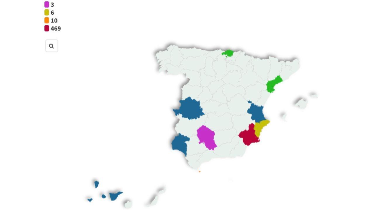 Imagen del mapa de políticos que se saltan el protocolo de vacunación