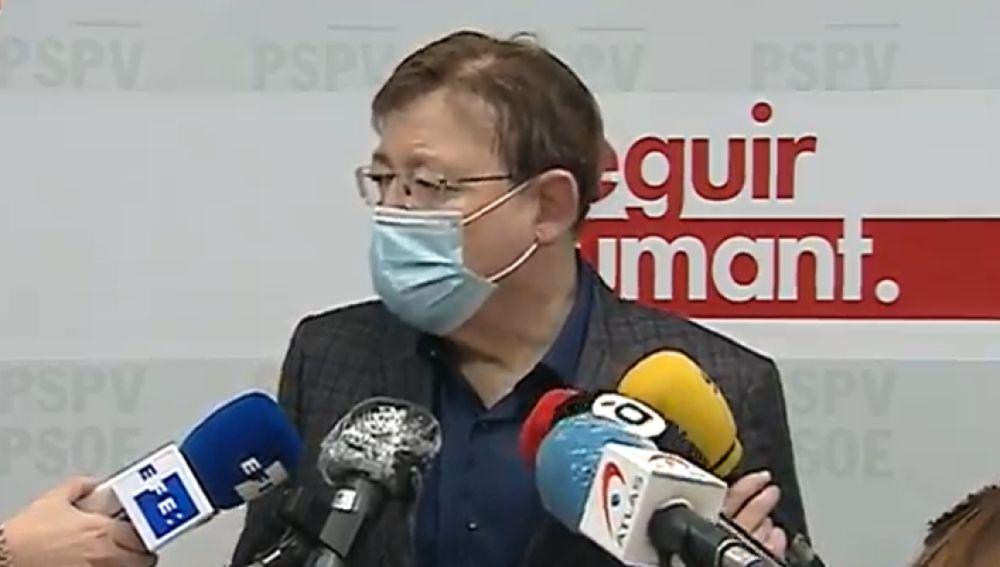 Ximo Puig, presidente de la Comunidad valenciana