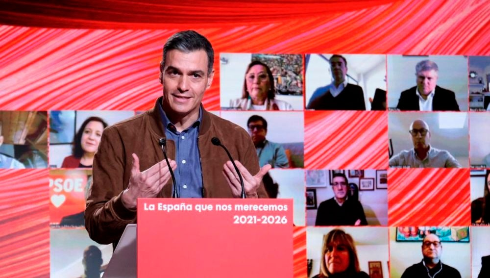 Pesro Sánchez, en el Congreso Federal del PSOE