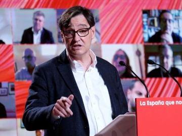 Salvador Illa, candidato del PSC en las elecciones de Cataluña 2021
