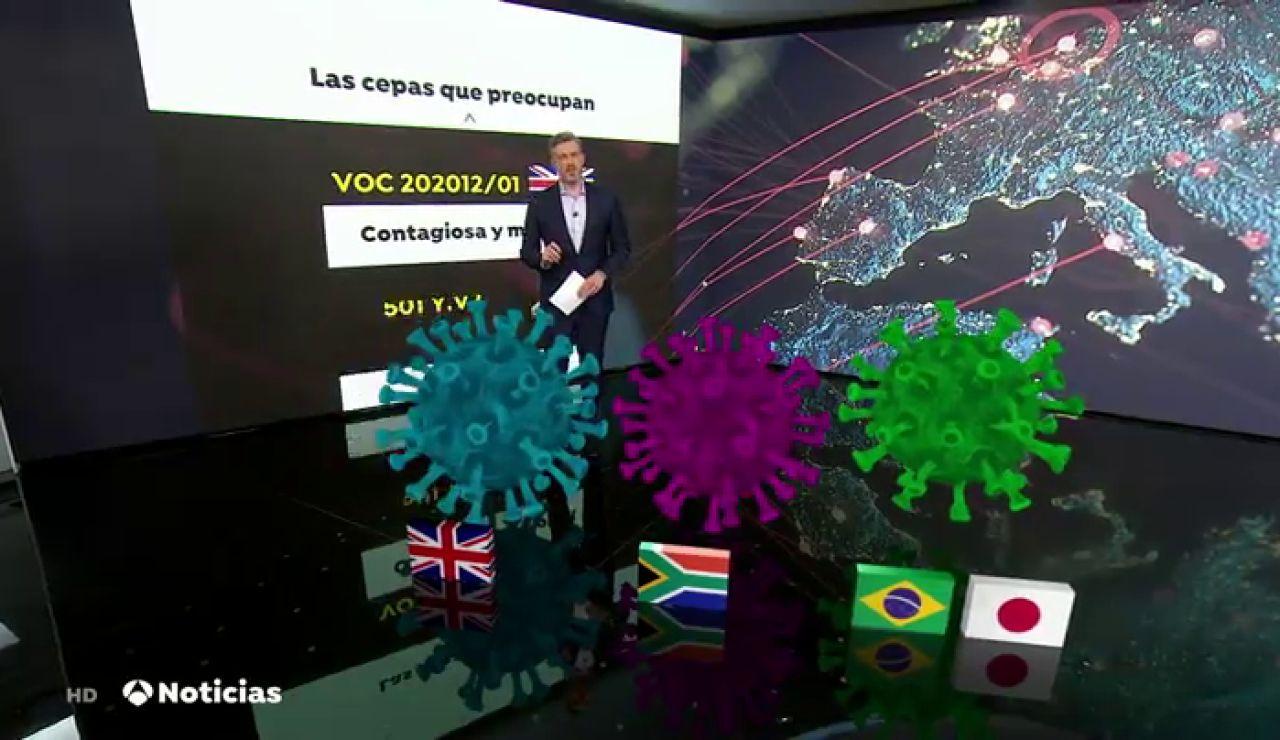 Así son las tres nuevas cepas del coronavirus