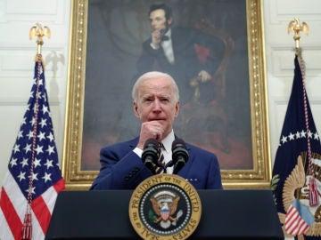 El presidente de los Estados Unidos, Joe Biden, durante un discurso