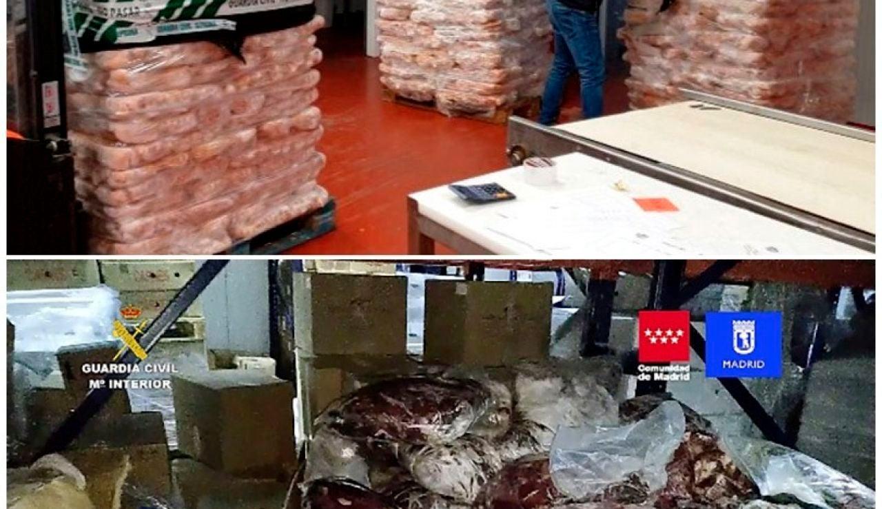 Detienen a 14 personas e incautan 122.000 kilos de carne caducada
