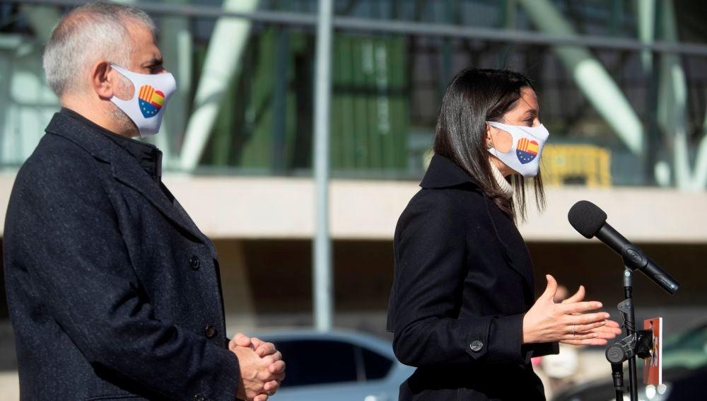 Inés Arrimadas y el candidato de Ciudadanos a la Generalitat