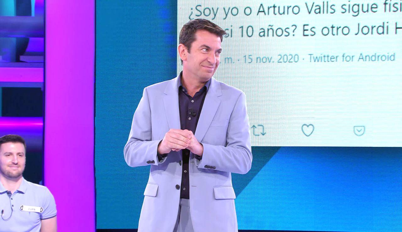 La reacción de Arturo Valls a un tuit que le compara con otro presentador