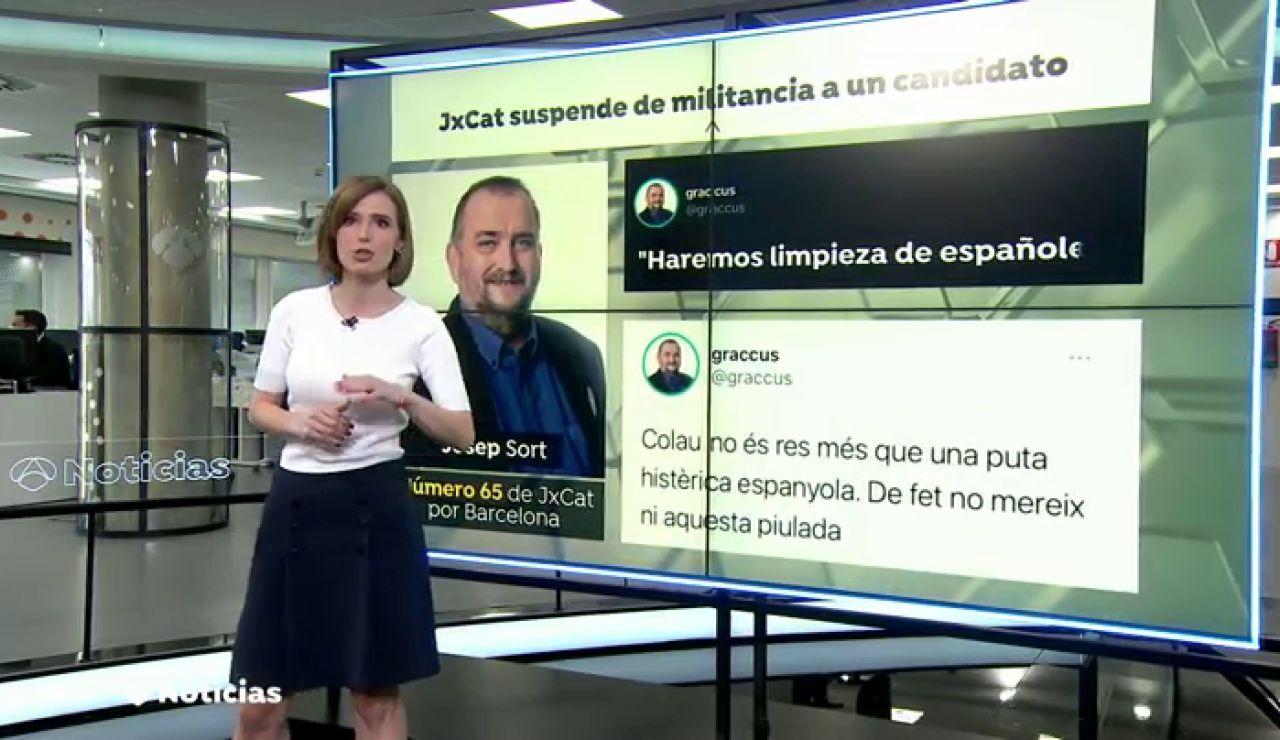 """JxCat suspende a Josep Sort por llamar """"puta"""" a Ada Colau y prometer """"hacer limpieza de españoles"""""""