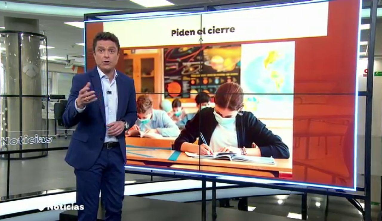 """Las asociaciones de padres en la Comunidad Valenciana piden """"el cierre inmediato"""" de los colegios"""
