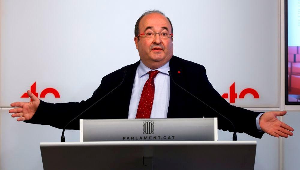 Miquel Iceta, durante una comparecencia en el Parlamento de Cataluña.
