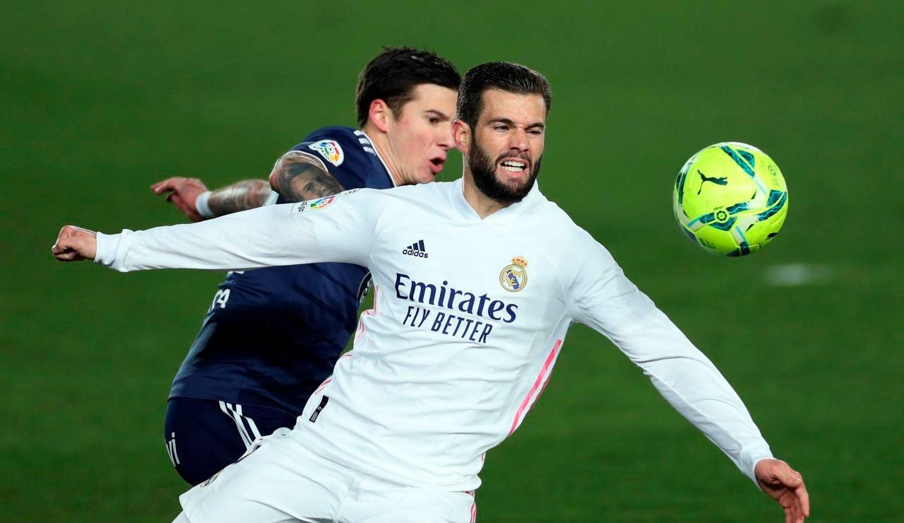Nacho Fernández, durante un partido