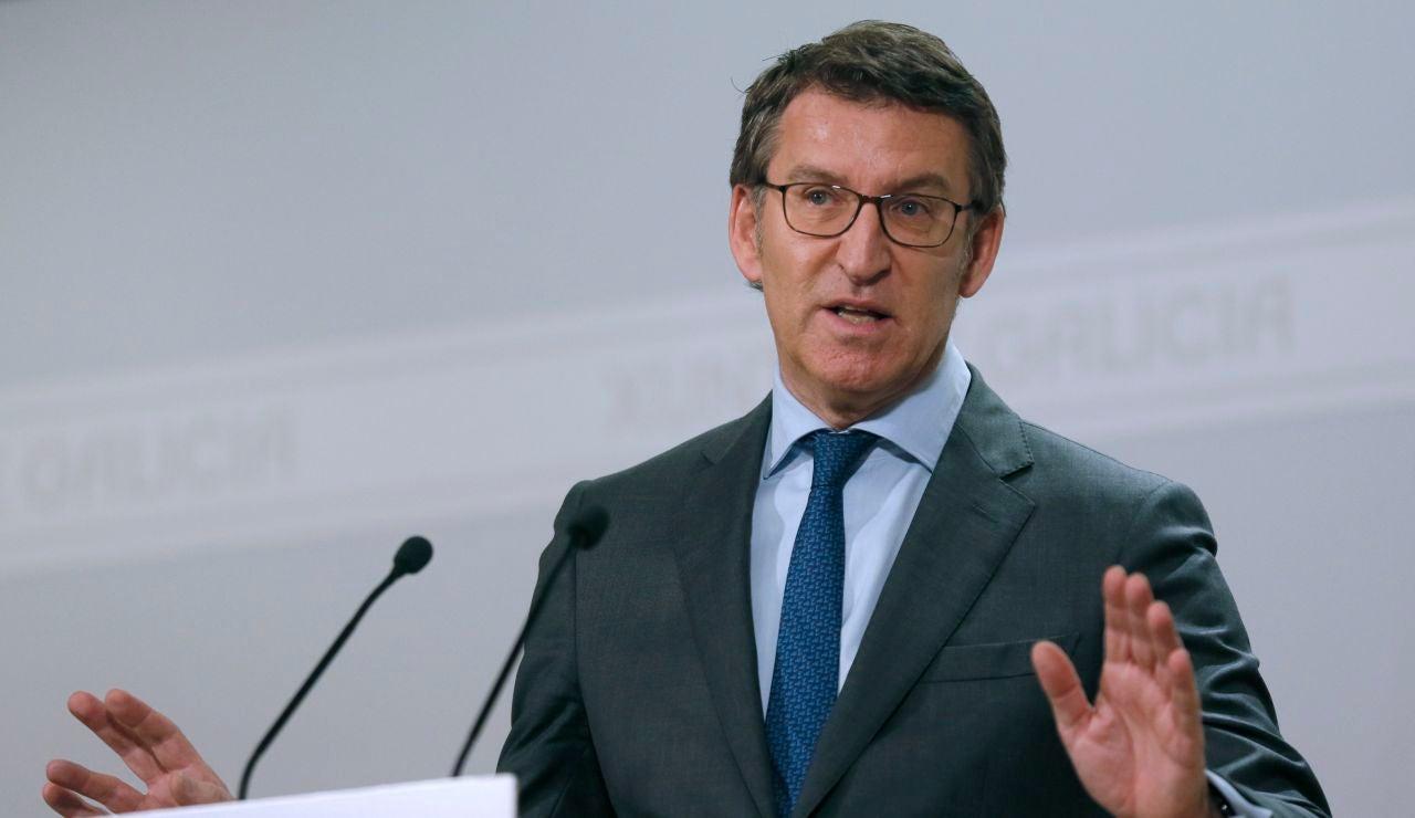 Alberto Núñez Feijóo, en la rueda de prensa.