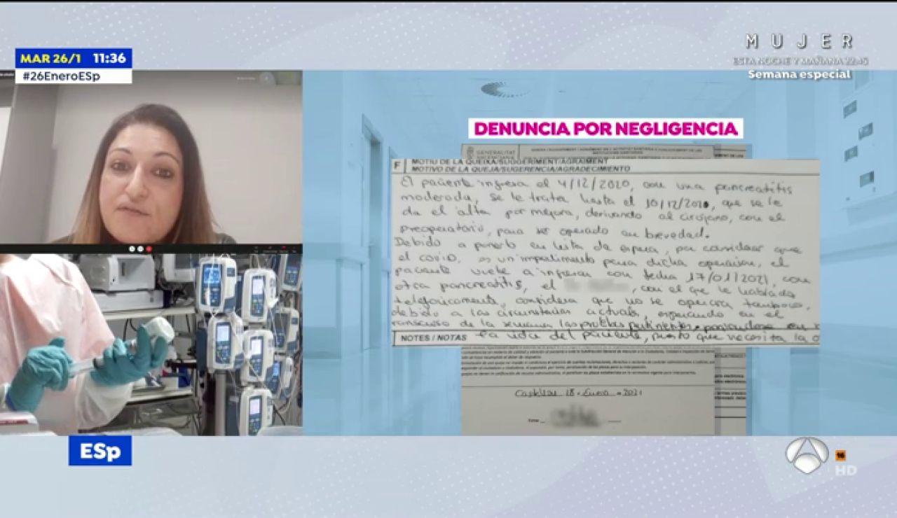 """Denuncia la muerte de su padre de pancreatitis en Castellón: """"El cirujano le dijo: """"Ya me gustaría a mí poder operarle"""""""""""